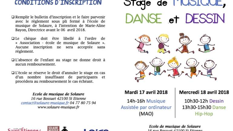Stage MAO – Dessin -Danse Hip-Hop – Avril 2018