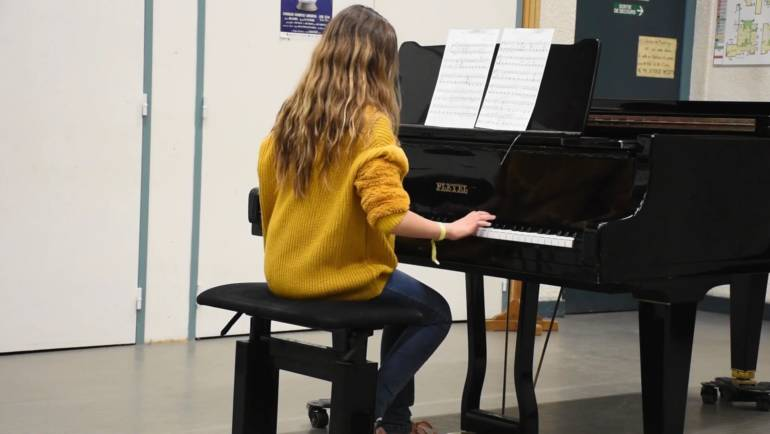 Audition de la classe de piano, 9 avril 2019.
